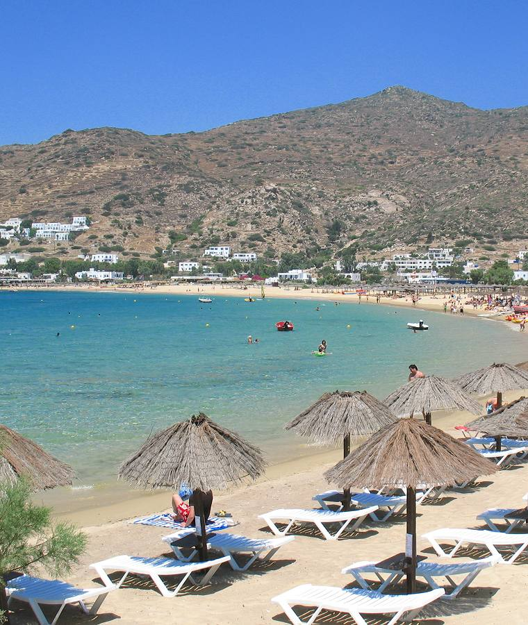 Mylopotas Beach on Ios Island Greece